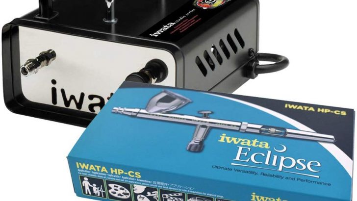 Iwata ECL 4500 Eclipse HP-CS airbrush with Ninja Jet Compressor (bundle) Review