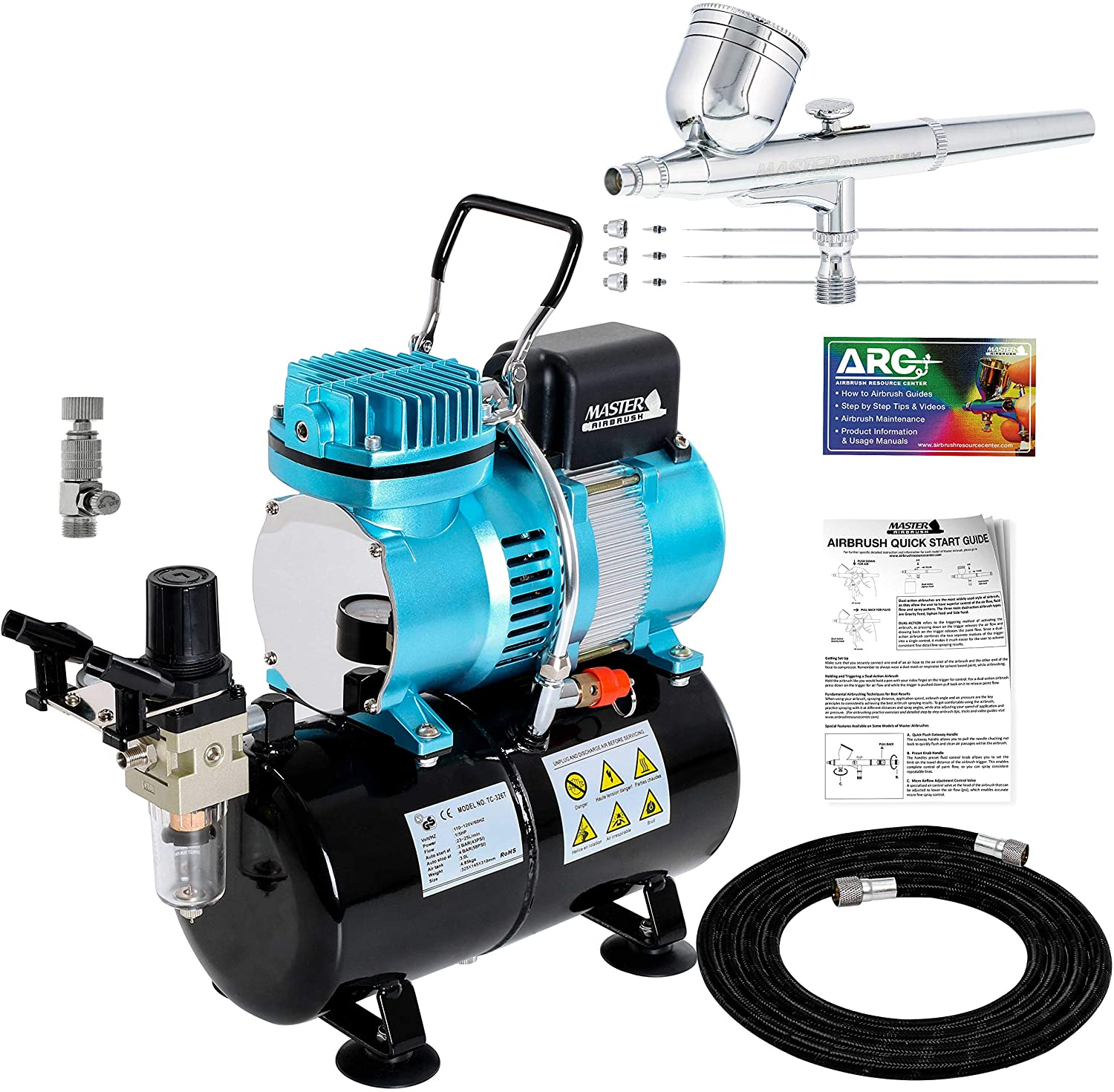 Master Airbrush Cool Runner II Dual Fan Air Tank Compressor